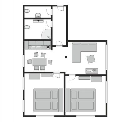 Floor plan of Apartment 3