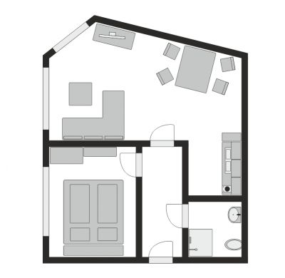 Floor plan of Apartment 2
